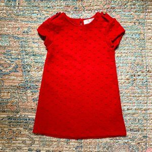 Zara Red Dress with Bobbles | 4T